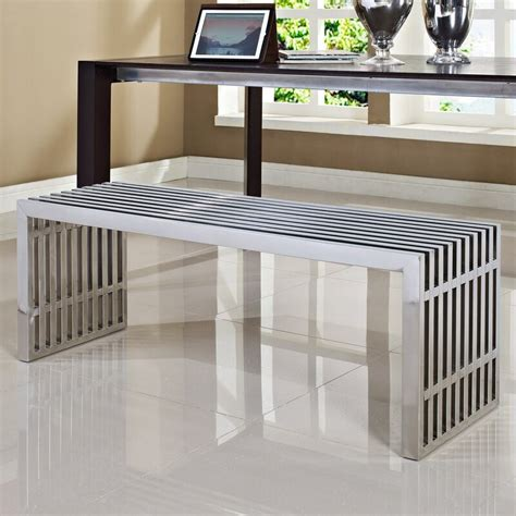 Gunnar Stainless Steel Bench