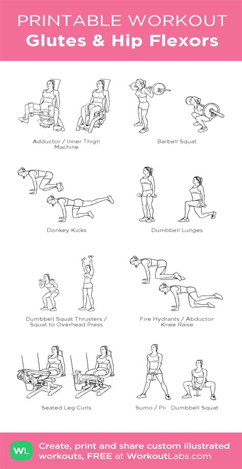 gym hip flexor workout bodybuilding plan for women