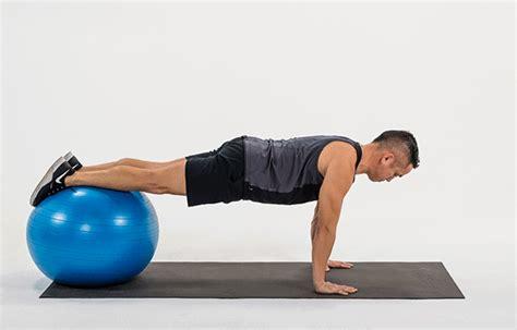 gym hip flexor workout on stability ball