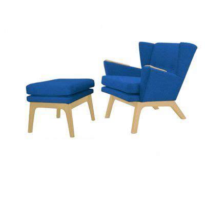 Haddam Wingback Lounge Chair and Ottoman