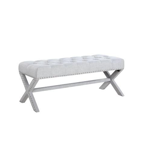 Hafer Tufted Nailhead Upholstered Bench