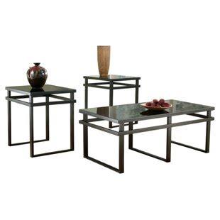 Hailie 3 Piece Coffee Table Set