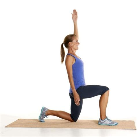 half kneeling hip flexor stretch with reach over cooked switch