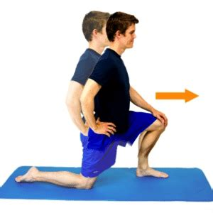 half kneeling hip flexor stretching routine before bed