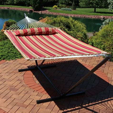 Halie Polyester Hammock with Stand
