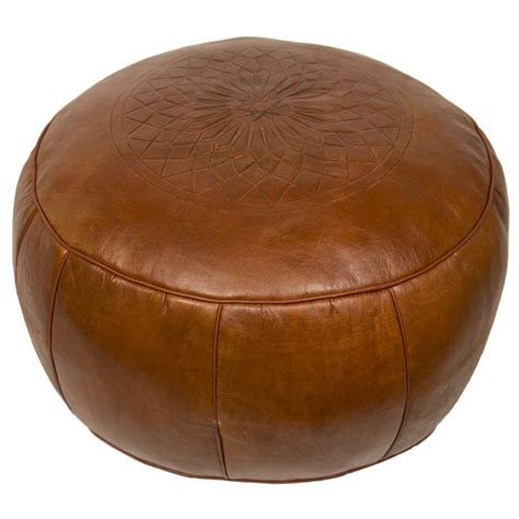 Hamerton Leather Pouf