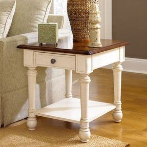 Hammary End Tables White With Wood