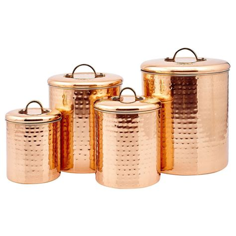 Hammered Copper Canisters  Ebay.