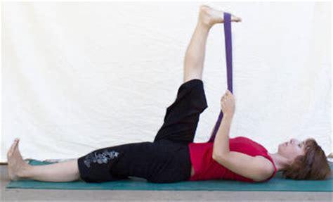 hamstring stretch yoga strap