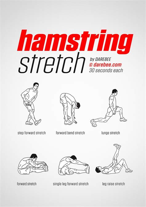 hamstring stretches names