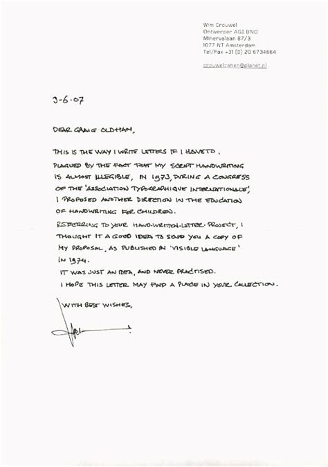Handwritten Cover Letter How To Write A For Resume