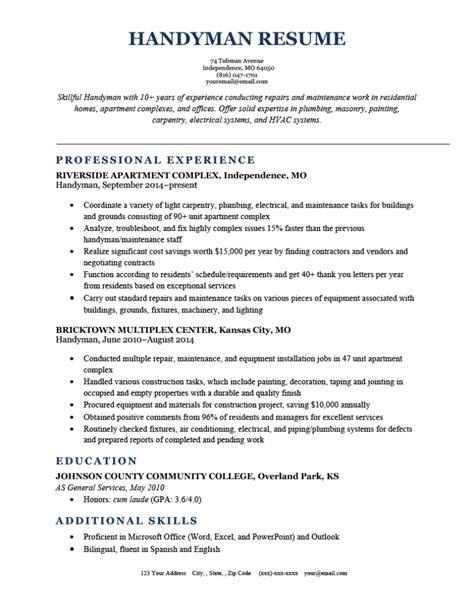 handyman resume job description administrator resume sample example job description - Handyman Resume Samples