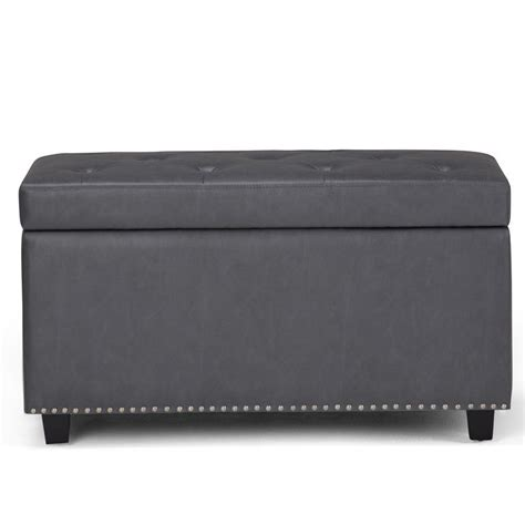 Hannah Faux Leather Storage Bench