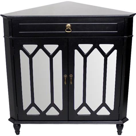 Hannah Wooden Corner Accent Cabinet