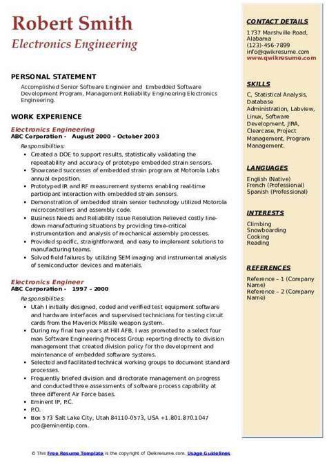 hardware engineer resume sample network engineer resume example