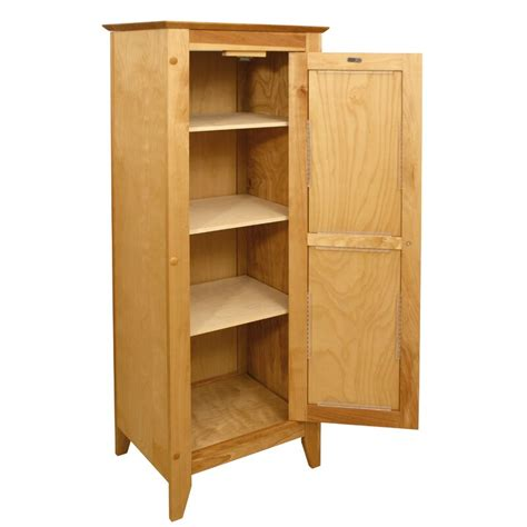 Hardwood Flat Panel 1 Door Accent Cabinet