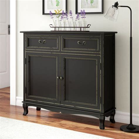 Hargrave Wood 2 Drawer 2 Door Accent Cabinet