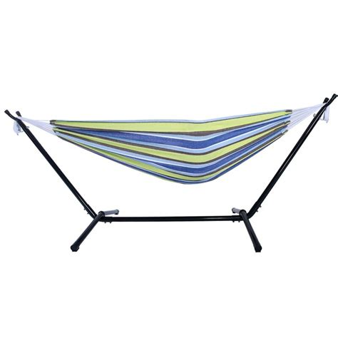 Harrietta Portable Polyester Camping Hammock with Stand