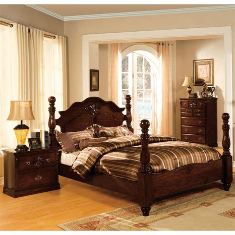 Harrison Traditional Four Poster 2 Piece Bedroom Set byBeachcrest Home