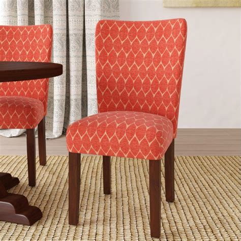 Haverstraw Textured Parsons Upholstered Dining Chair (Set of 2)