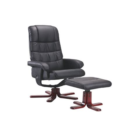 Haverty Modern High Back Manual Swivel Chair with Ottoman