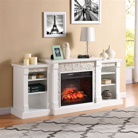 Hazelwood Simulated Stone Infrared Electric Fireplace