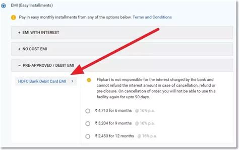 Hdfc Credit Card Payment Emi Options Can I Opt For The Emi Option With An Hdfc Debit Card Quora