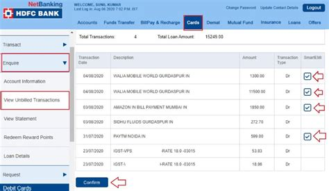 Hdfc Credit Card Payment Emi Options Smartemi On Hdfc Bank Credit Card Convert Purchases Into