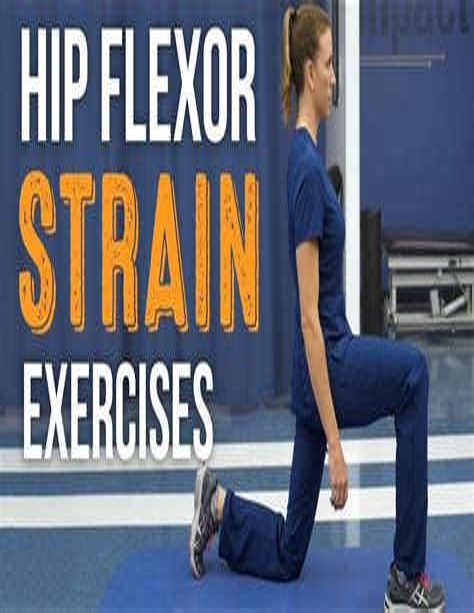 healing a hip flexor injury exercises