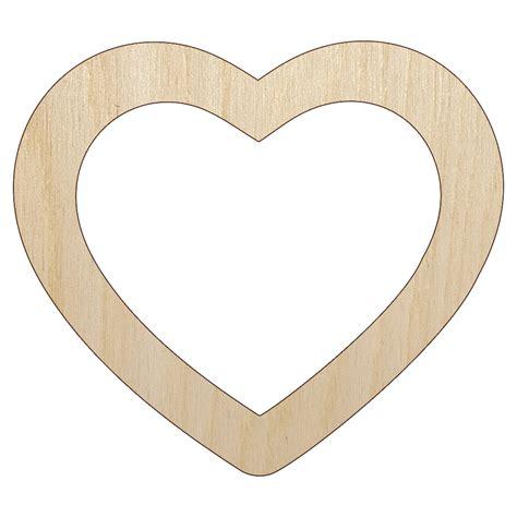 Heart Shaped Wood Cutouts