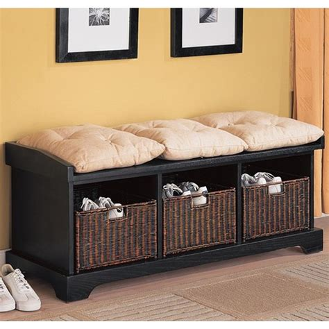 Heidi Wood Storage Bench