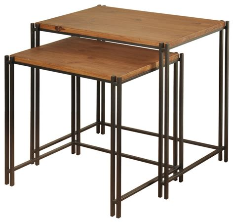 Heiner 2 Piece Nesting Plant Stand Set with Mirror Top and Square Base