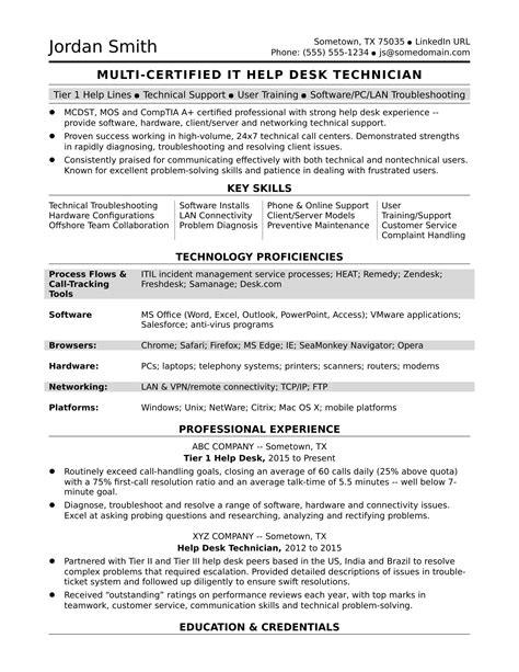 resume help desk help desk resume resumecompanion pinterest