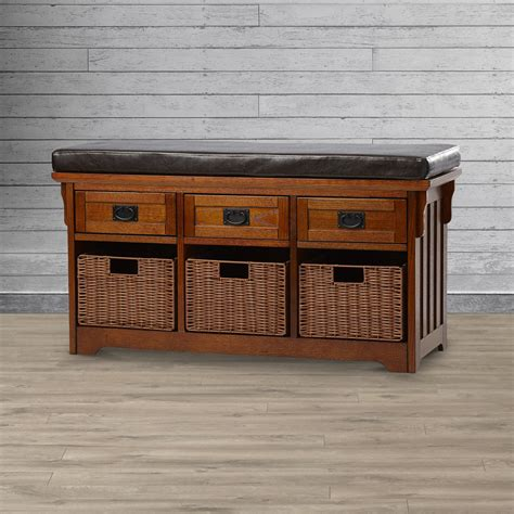Hemlock Wooden Storage Bench