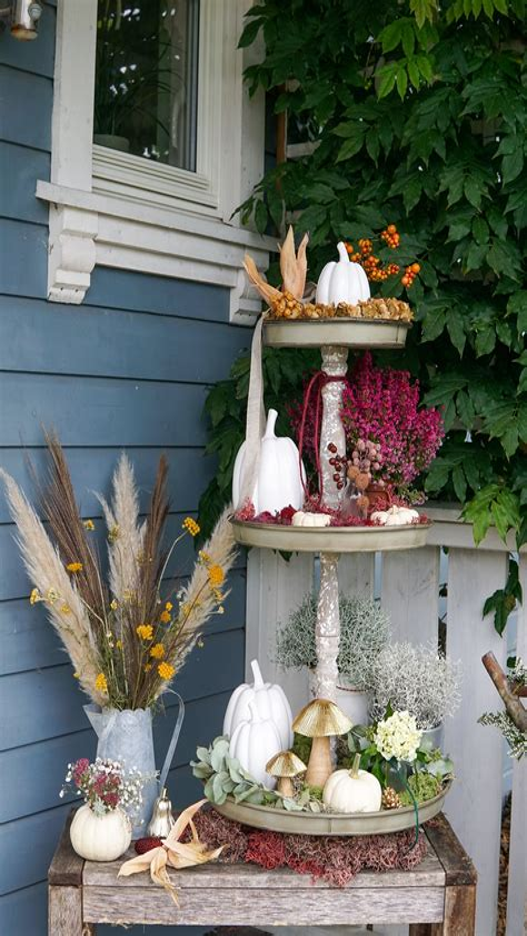 Herbstdeko Garten Modern