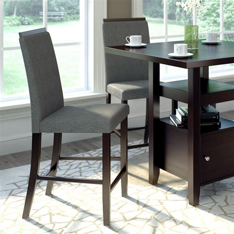 Herchenroether Counter Height Upholstered Dining Chair (Set of 2)