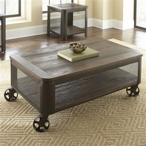 Hidalgo Coffee Table with Casters