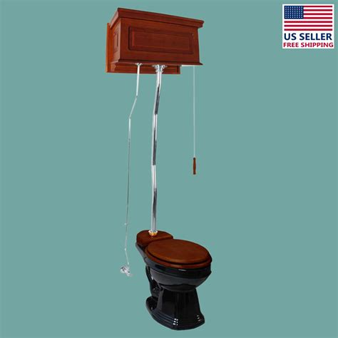 High Tank Pull Chain Toilet  Ebay.