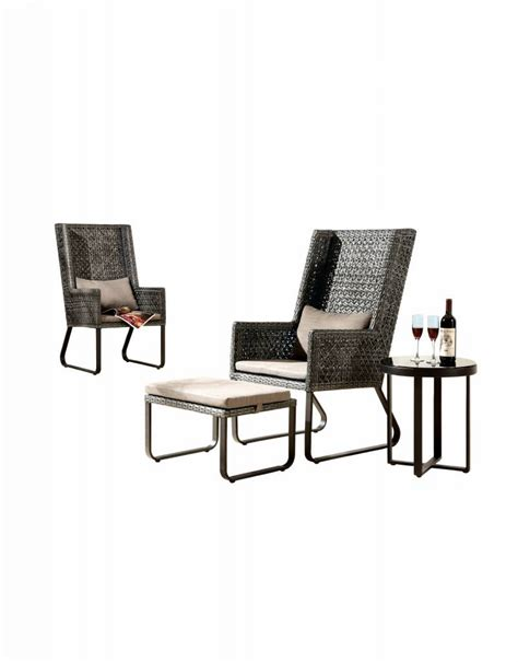 High Back Side Chair and Ottoman