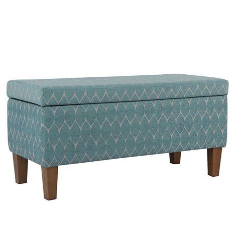Highland Textured Upholstered Storage Bench