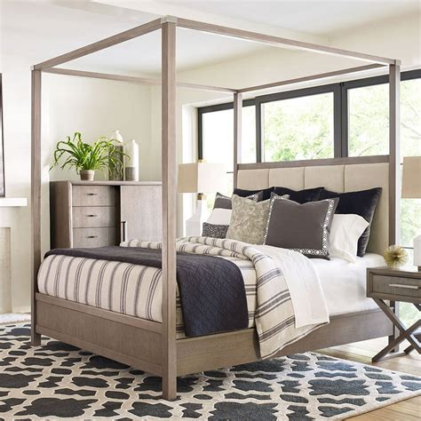 Highline by Rachael Ray Home Upholstered Canopy Bed by Rachael Ray Home