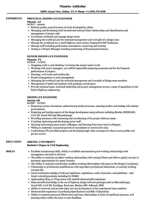 highway design engineer resume sample traffic engineer resume example best sample resume - Highways Engineer Sample Resume