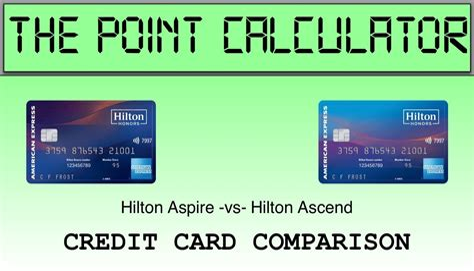 Hilton Rewards Business Credit Card Hilton Ascend Vs Hilton Aspire Which Credit Card Gets You