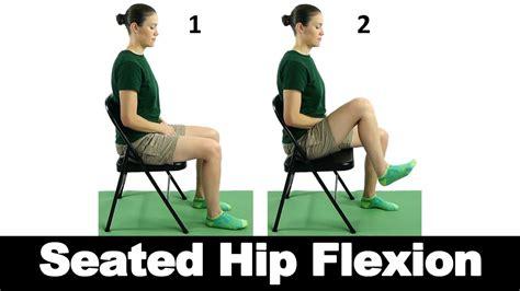 hip flexion while sitting