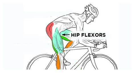 hip flexor back pain cycling