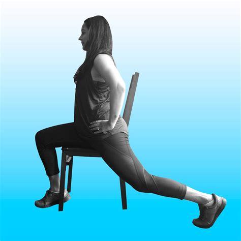 hip flexor chair stretches