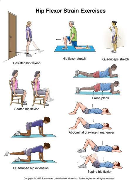 hip flexor exercise illustrations