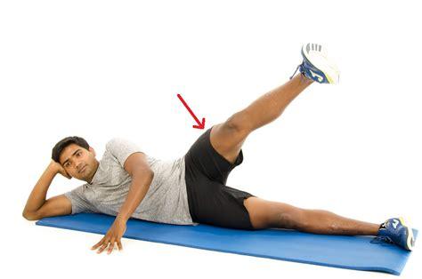 hip flexor exercise illustrations hook-lying position plus