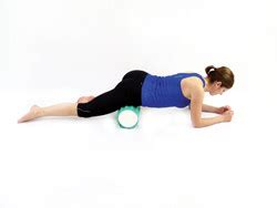 hip flexor foam roller picture instructions for how to button