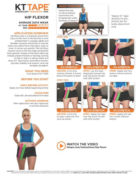 hip flexor kinesio taping method for knee